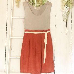 Pink Martini Sleeveless Orange Gray Dress